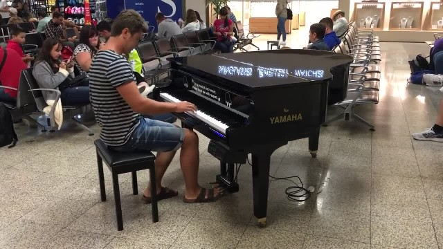 Handsome Man Walks Up To Airport Piano Unleashing Performance Passengers Will Never Forget