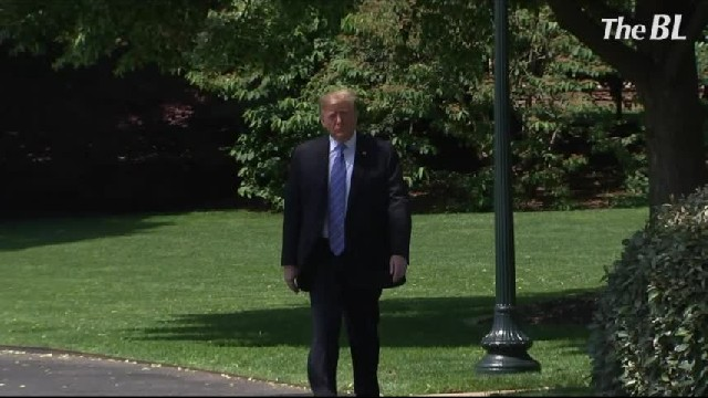 President Trump Press Conference on the White House South Lawn