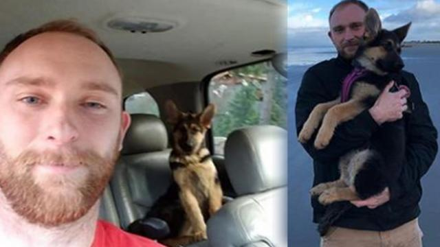 Veteran's dog stolen, he tracks down the thieves and gets a strange call