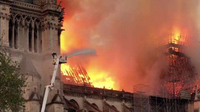 Massive Fire At Paris Notre Dame Cathedral