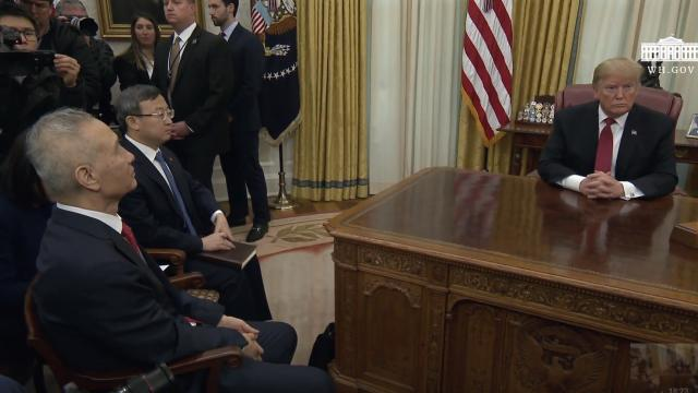 President Trump Meets with the Vice Premier of the Peoples Republic of China