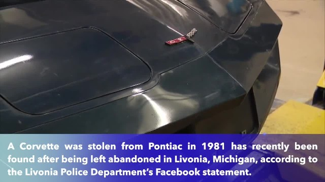 1981 Corvette stolen in Pontiac found abandoned in Livonia, Michigan after 38 years