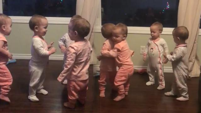 A mother caught her four babies expressing their love for one another and it's just the cutest thing