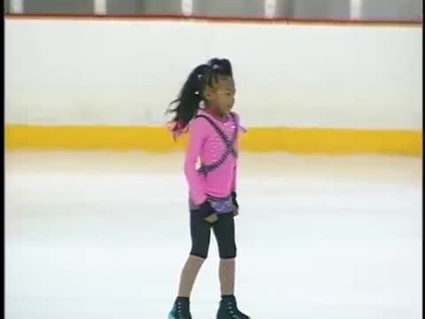 9-Year-Old Figure Skater Performs Hip Hop Routine