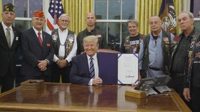 President Trump Signs National POW-MIA Act