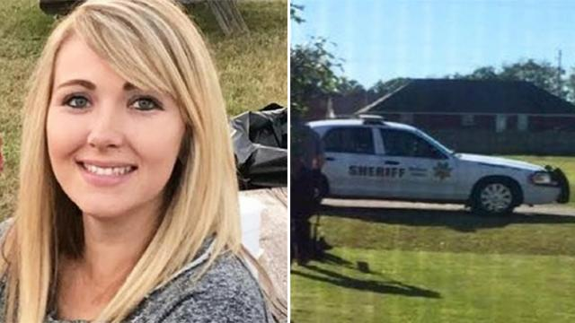 Mom mows the lawn wearing baby carrier until a police car pulls up and her heart drops