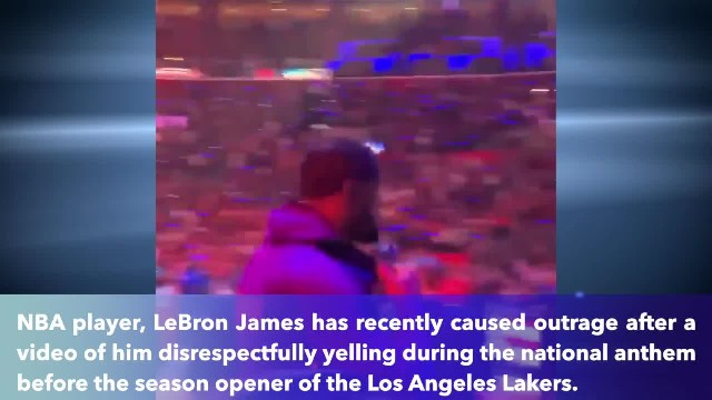 'Disrespectful'- LeBron James shouted, walked off court during national anthem