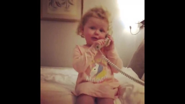 Daisy has the most hilarious phone call with her imaginary friend and people are loving it