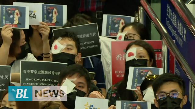 Doctors, nurses protest against Hong Kong police violence