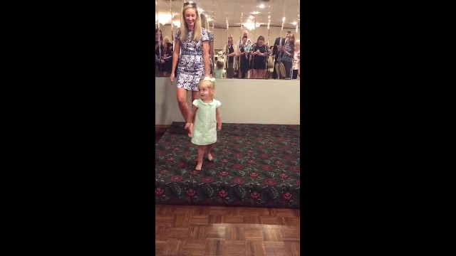 Tiny 2-year-old performs the cutest Irish jig at wedding, and she never misses a step