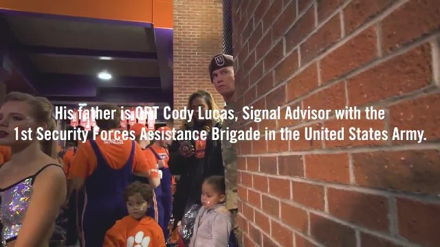 Tough Football Player Loses It When He Sees Army Dad Cheering On Sidelines