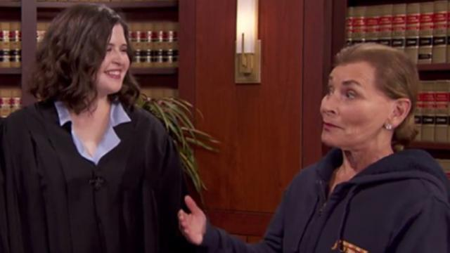 Idaho college student lives out her dream of being judge judy for a day