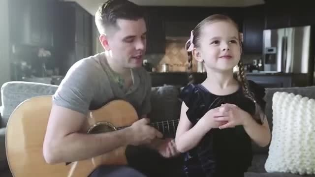 5-yr-old tells dad she's going to sing a 'sad' song — the result is heart-melting