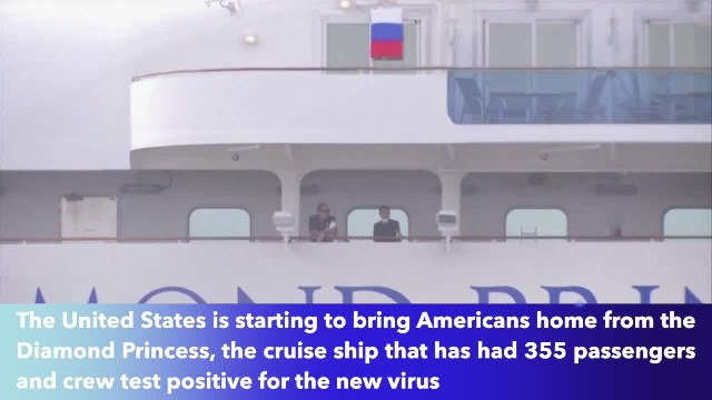 U.S. evacuating Americans stuck on quarantined cruise ship.