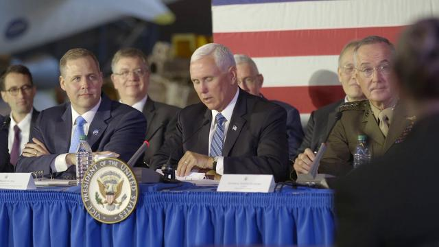 Vice President Pence at the 6th meeting of the National Space Council