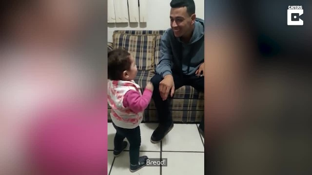 Toddler eager to get deaf dad's attention only to communicate message leaving all teary eyed
