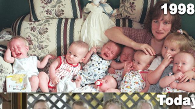 She gave birth to the world's first surviving septuplets, and they are 18 now