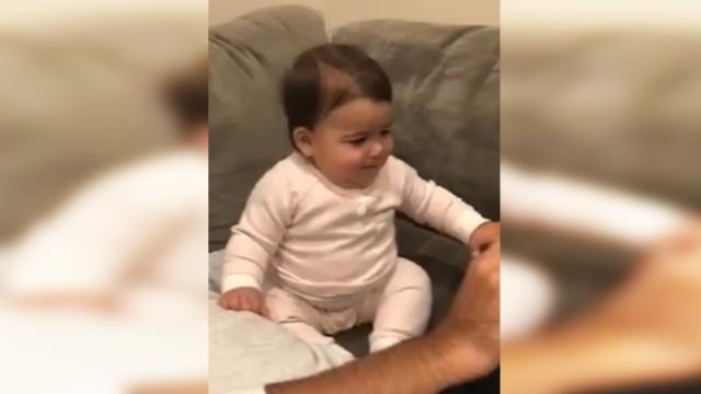 "Girl hears ""Baby Shark"" song suddenly shaking her hips with moves even parents can't compete with"