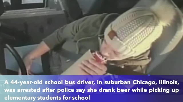 Illinois bus driver drank beer while picking up students, police say