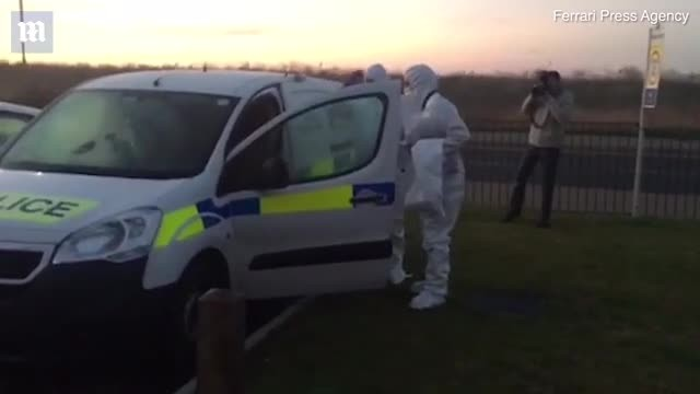 Forensic officers arrive at the scene of Margate double murder