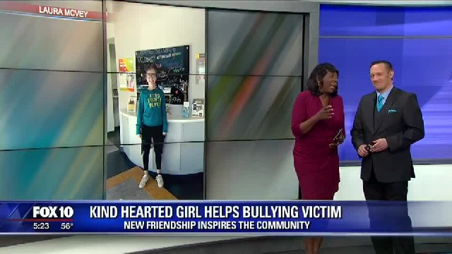 Young girl brings clothes & shoes to bullied classmate: 'I was trying so hard not to cry'