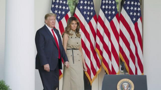 President Trump and Melania Trump participate in national day of prayer event