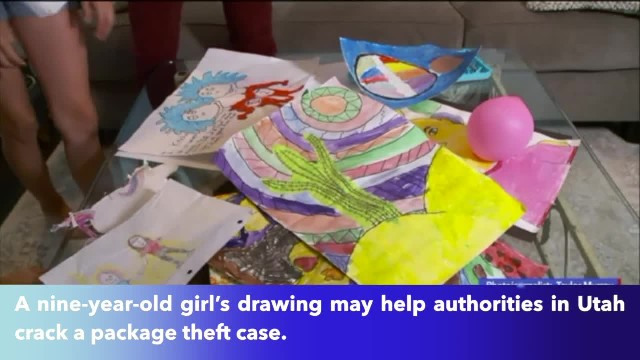 Utah 9-year-old's drawing help police identify suspect vehicle in package thefts