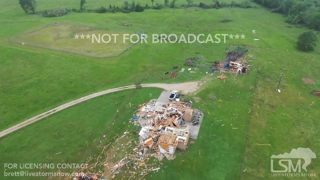 Drone captures viral video of tornado shredding through Canton, Texase