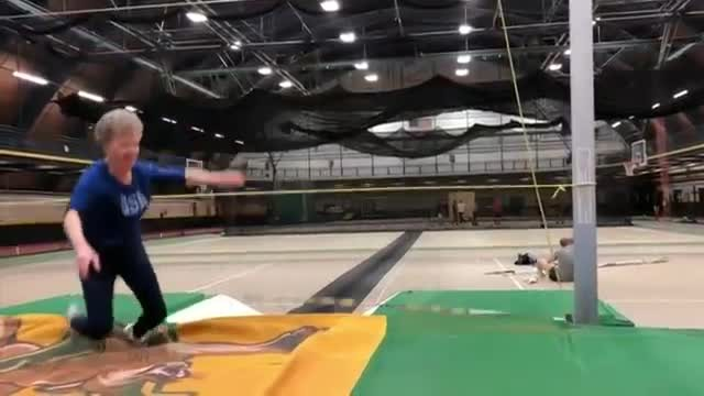 She started doing track and field at age 60. Now, at 84, she's a competitive pole vaulter