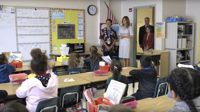 First Lady Melania Trump Visits with Students in Florida
