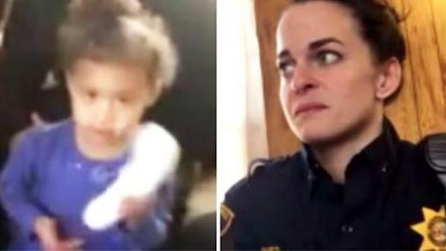 Toddler calls 911, female cop arrives only to learn it's a cry for help unlike any she's seen