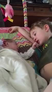 Big brother gets emotional as he sings touching Lullaby to his preemie sister