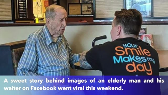91-year-old veteran was eating alone before waiter served up act of kindness