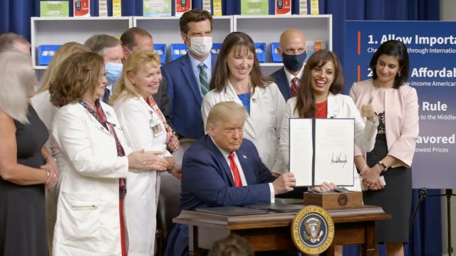 President Trump takes historic action to reduce prescription drug prices