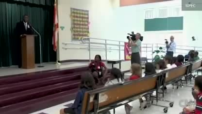 Little Girl Hadn't Seen Her Soldier Dad In Months, Until He Surprises Her During A Spelling Bee