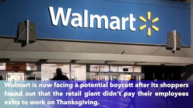Walmart offers employees small discount instead of pay extra on Thanksgiving
