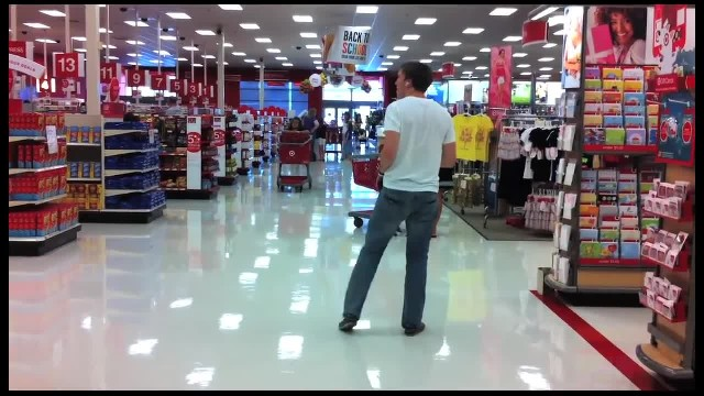 Man goes shopping in Target suddenly busts out moves that have heads turning