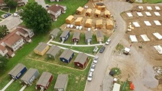 Veterans community project in Kansas city is building an entire tiny home village for veterans