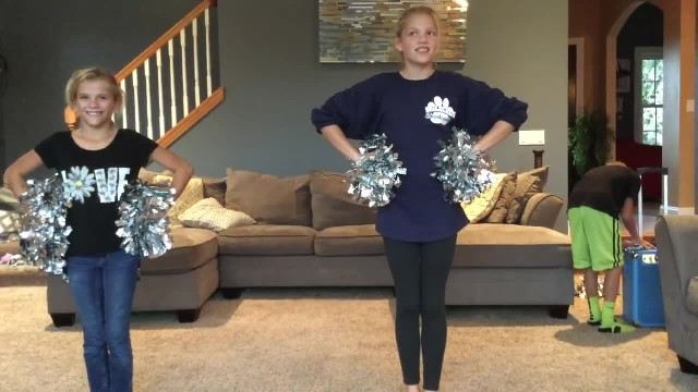 Sisters Get Ready To Show Off New Cheer Routine – Then Their Little Brother Steals The Show