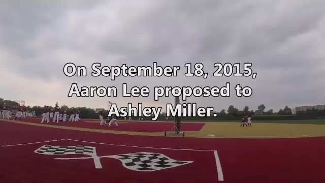 Entire college baseball team helps their coach propose to his girlfriend with huge flash mob