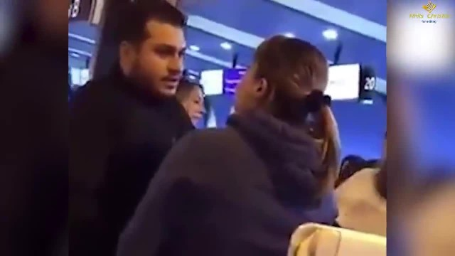 Wife Catches Husband And His Lover At The Airport, What Happened Next Is Hilarious