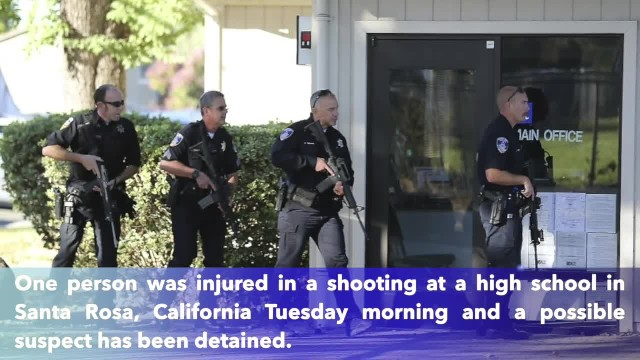 1 injured in shooting at California high school, suspect caught