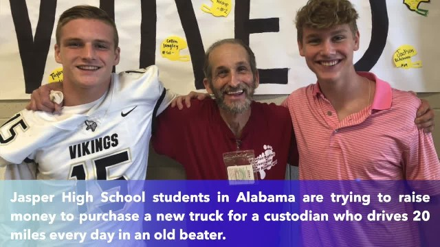 Students raise money to purchase truck for custodian