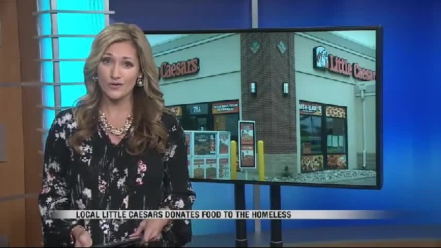 Little Caesars Posts Sign On Door After Finding Homeless People Eating Scraps From Dumpster