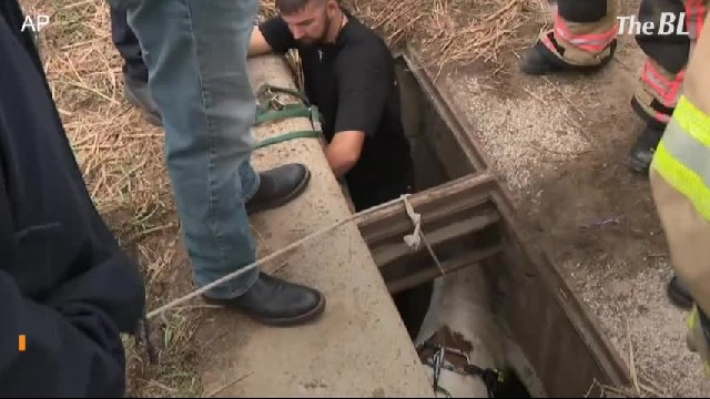 Texas emergency crew rescues pony from storm drain