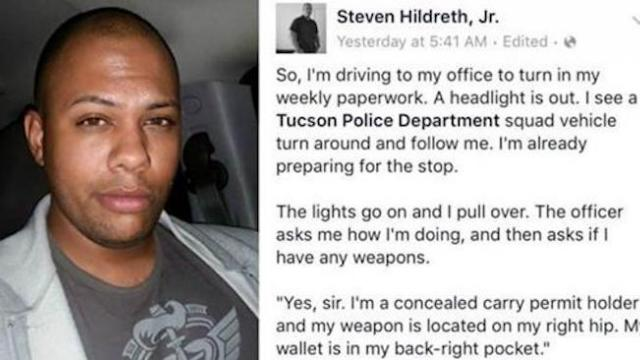 Man gets stopped by police and his Facebook post goes viral