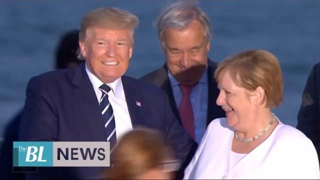 President Trump has 'productive' talks with German chancellor at G7 summit