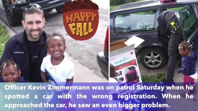 Police officer surprised Wisconsin mother of three buying car seats instead of giving her ticket
