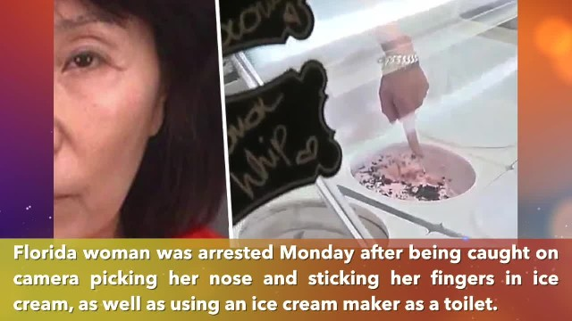 Florida woman arrested for allegedly urinating in ice cream machine