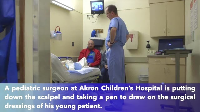 "Akron Children's Hospital surgeon creates ""dressing drawings"" so children don't see scars"